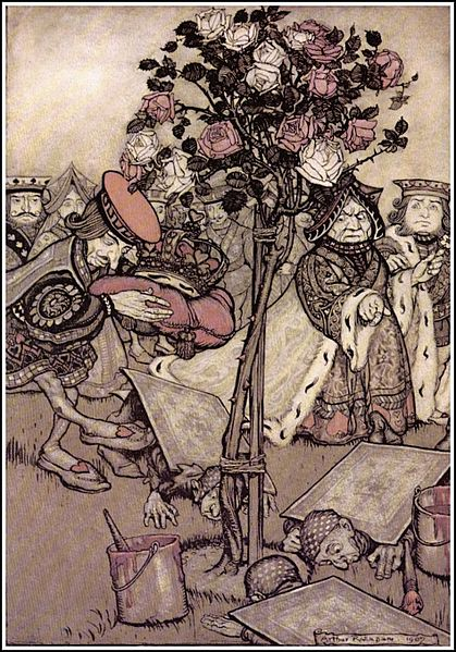 File:Alice in Wonderland by Arthur Rackham - 12 - Turn them over.jpg