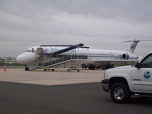 Hagerstown Regional Airport - Allegiant Air MD-83 at HGR in 2009