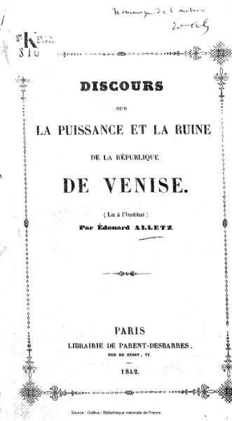 File:Alletz - Discours sur la puissance et la ruine de la République de Venise.djvu