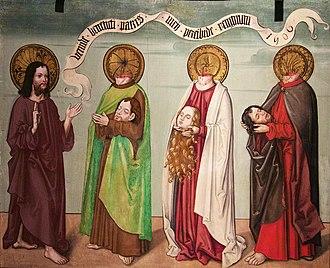Felix and Regula - Jesus and Felix, Regula, Exuperantius, 1506