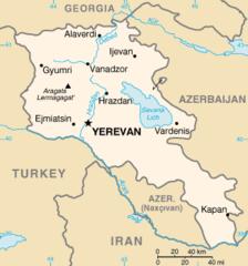 Mapa Armenii