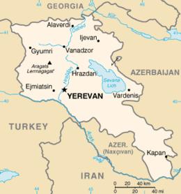Armenia - Mappa