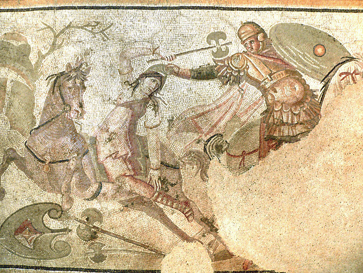 Amazon Savaşları, Antakya, Mozaik Paris Louvre Müzesinde sergileniyor.