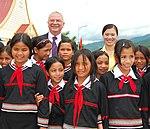 Ambassador Michael Michalak and Truong Thi Ngoc Anh meet with students at the Kon Ray School (5686006639).jpg