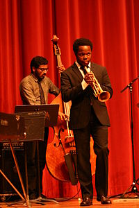 Ambrose Akinmusire performing with his quintet.jpg