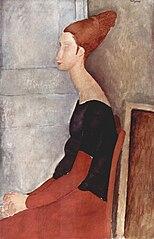 Portrait de Jeanne Hébuterne assise de profil