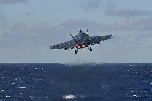 An F-A-18E launces from USS Dwight D. Eisenhower. (8290274967)