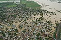 An aerial view taken from the IAF relief Helicopter of the flood-affected Degloor Naka area of Nanded city on the border of Maharashtra on August 09, 2006.jpg