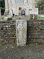 Ancient carved gravestone in Ferns' ruined cathedral - geograph.org.uk - 1543805.jpg