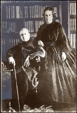 Andrés Bello - Andrés Bello and his wife Isabel Dunn in 1862