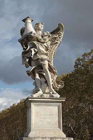 Antonio Raggi - Angel with the Column, Ponte Sant'Angelo, Rome.