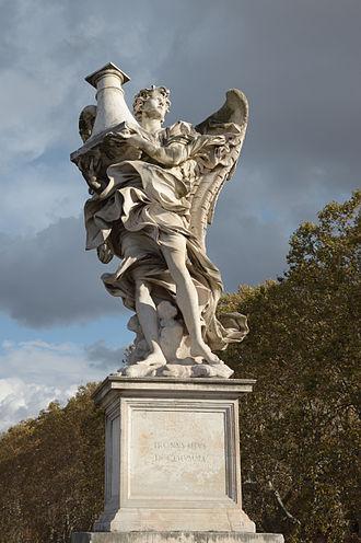 Antonio Raggi - Angel with the Column, Ponte Sant'Angelo, Rome.