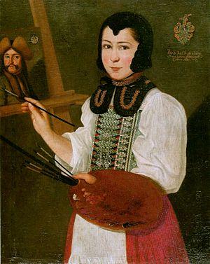 Anna Waser - Self-portrait, 1691