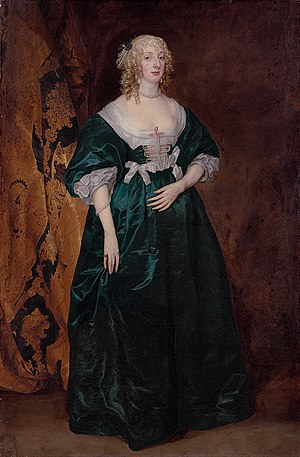Robert Dormer, 1st Earl of Carnarvon - Portrait of Anne Sophia, Countess of Carnarvon, daughter of the 4th Earl of Pembroke, 17th century, by Anthony van Dyck.
