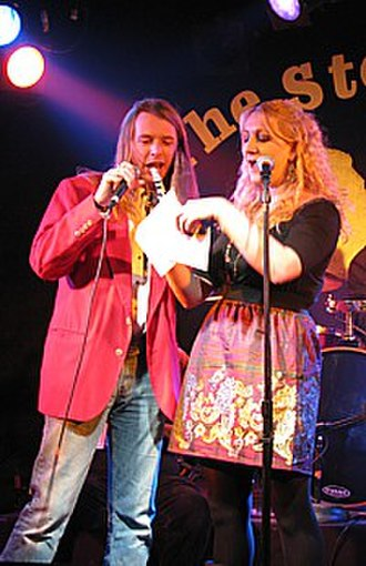 The Stone Pony - Keith McCarthy and Lindsey Miller of Sunday Blues announce the winners of the Asbury Park Music Awards.