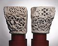 Anonyme toulousain - Bas-relief , Hommes et animaux combattant dans des rinceaux - Musée des Augustins - ME 172 ME 174.jpg