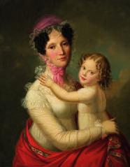 Eleonora Mayer, Freifrau zu Gravenegg mit Tochter Isabella