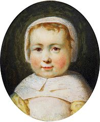 Miniature of Pelagia Potocka (1775-1846) as a child.