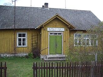 Anseküla - Image: Anseküla algkooli hoone