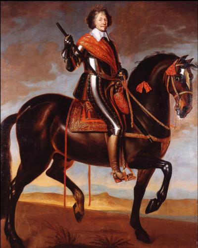Anselm van Hulle (Attr.) - Equestrian portrait of Frederick Henry, Prince of Orange