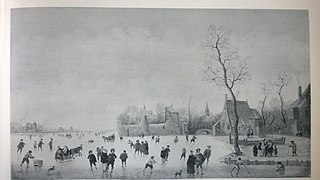 Ice Landscape near a Village