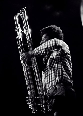 Contrabass clarinet - Anthony Braxton playing a paperclip contrabass clarinet in Rochester, NY. 1976