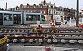 Anzin & Valenciennes - Travaux de raccordement des lignes A & B du tramway de Valenciennes à la Croix d'Anzin le 20 août 2013 (23).JPG