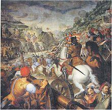Grazio Cossali, Apparizione dei santi Faustino e Giovita in difesa di Brescia 1603, chiesa dei Santi Faustino e Giovita, Brescia.