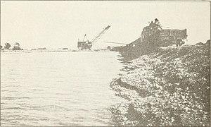 Stony Creek (Sacramento River tributary) - Gravel mining in the Stony Creek bed, ca. 1917