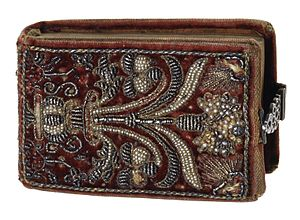 Esther Inglis - The cover of Argumenta psalmorum Davidis, embroidered by Inglis in 1608