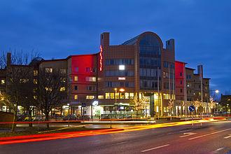 Märsta - Arkaden in Märsta City housing restaurants, offices and a gym