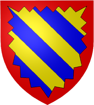 Odo IV, Duke of Burgundy - The arms of Eudes. He took the arms of his uncle and namesake, Eudes of Nevers, before the death of Hugh V. Note the indentation.