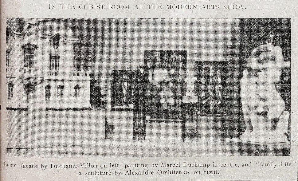 Armory Show, 1913, the Cubist room, Raymond Duchamp-Villon, Albert Gleizes, Marcel Duchamp, Alexander Archipenko, New York Tribune, 17 February 1913, p. 7