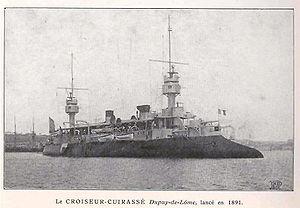 French cruiser Dupuy de Lôme - Image: Armoured cruiser Dupuy de Lôme