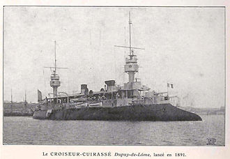Jeune École - Dupuy de Lôme, an early armored cruiser.