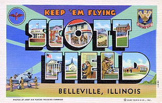 Scott Air Force Base - Scott Field World War II Postcard