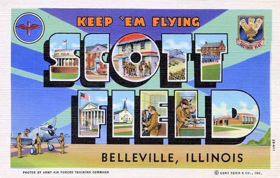 Army Air Forces - Postcard - Scott Field Illinois