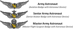 Astronaut badge - Image: Army Astronaut Badges