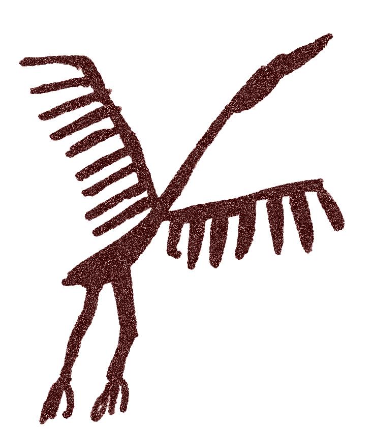 Arte esquemático-Cigüeña