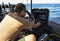 Artemis Trident is a counter mine exercise involving the remotely operated mine inspection vehicle Seafox and the unmanned underwater vehicle system M18. 130624-N-OM642-023.jpg