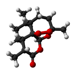 Artemisinin - Image: Artemisinin 3D balls 2