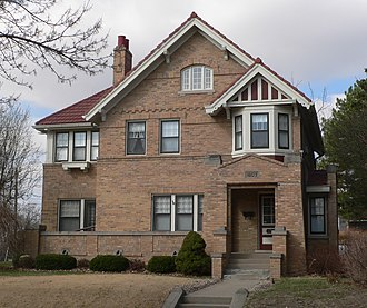 National Register of Historic Places listings in Woodbury County, Iowa - Image: Ashby house (Sioux City) from E 1