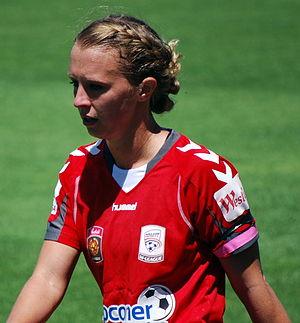 Ashleigh Gunning - Gunning playing for Adelaide United