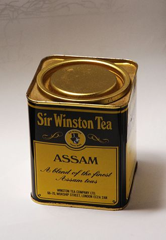 Assam tea - A tin of Assam tea
