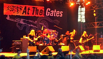 At the Gates - At the Gates performing live at the Sweden Rock Festival in 2008.