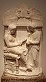 Atene, stele funeraria di donna con serva, detto rilievo della sirena, 400 ac ca.JPG