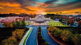 BAPS Shri Swaminarayan Mandir Atlanta - Image: Atlanta Mandir aerial