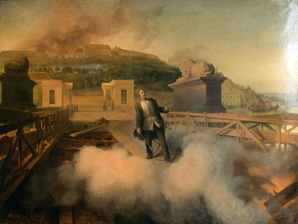 Attempt of blowing up the Chainbridge on May 21, 1849