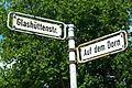 Auf dem Dorn Glashüttenstraße Hannover Vahrenwald Straßenschilder.jpg
