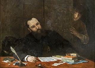Portrait du poète Armand Silvestre